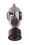 Gas mask. Isolated on white - front view royalty free stock photo