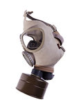 Gas mask. Isolated on white - side view royalty free stock photos