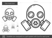 Gas mask line icon. Stock Photography