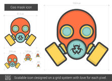 Gas mask line icon. Royalty Free Stock Image
