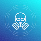 Gas mask linear icon Stock Images