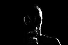 Gas Mask. A man with a gas mask Stock Photos