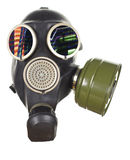 Gas mask. A gas mask on a mannequin head Royalty Free Stock Photos
