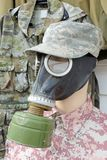 Dummy with civil gas mask Royalty Free Stock Image