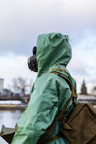 Gas mask and other equipment of civil defense (USSR). Equipment of civil defense and gas mask Royalty Free Stock Photos