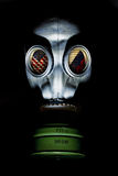 Gas Mask - Pakistan India. Gas mask with pakistan and india flag royalty free stock photo