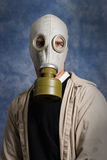 Gas Mask Portrait. Concept image of a future portrait symbolizing that we will all need to wear breathing protection in everyday life Stock Photo