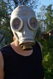 Gas-mask portrait Stock Image
