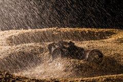 Gas mask and rain Stock Photo