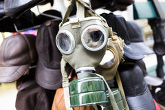 Gas mask for sale Stock Photo