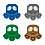 Gas mask. A set of gas mask icons Stock Photography