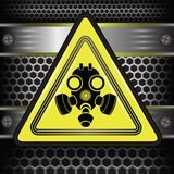 Gas mask sign Royalty Free Stock Photo