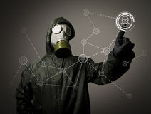Gas mask. Social network Royalty Free Stock Photography
