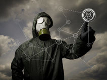 Gas mask. Social network Royalty Free Stock Photo