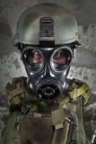 Gas Mask Soldier Stock Photos