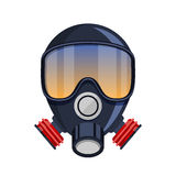 Gas mask stencil isolated over Stock Photo