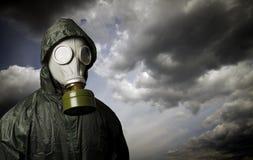 Gas mask Tema de la supervivencia foto de archivo