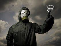 Gas mask. UNDO concept. Stock Photos