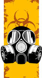 Gas mask. Vector illustration of gas mask on grunge background stock illustration