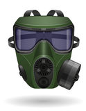 Gas mask vector illustration Royalty Free Stock Photos