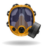 Gas mask vector illustration Royalty Free Stock Photos