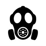 Gas mask vector silhouette sign Stock Images
