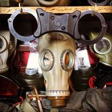 Gas mask. Vintage Stock Images