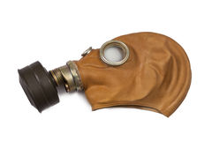 Gas mask. Vintage gas mask isolated on white background Stock Photos