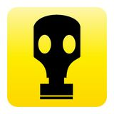 Gas mask web button Stock Image