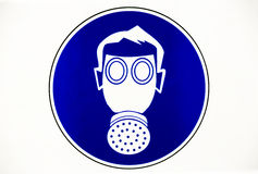 Gas mask work place sign Stock Images