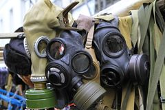 Gas masks Stock Photography