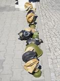 Gas masks in berlin Stock Photos