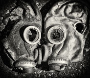 Gas masks. Royalty Free Stock Photo