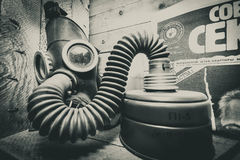 Gas masks 3. Ex Soviet gas mask for kids Royalty Free Stock Photos