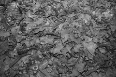 Gas masks on the floor in Pripyat, Chernobyl. Royalty Free Stock Image