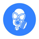 Gas masks icon black. Single weapon icon from the big ammunition, arms set. Gas masks icon black. Single weapon icon from the big ammunition, arms black stock illustration