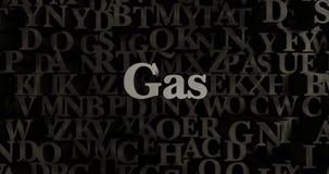 Gas - metallisk 3D som framfördes, satte rubrikillustrationen Vektor Illustrationer