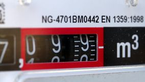 Gas meter counting stock footage