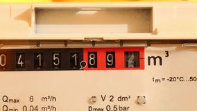 Gas Meter stock video footage