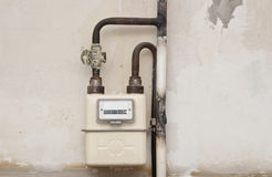 Gas meter in a house Royalty Free Stock Image