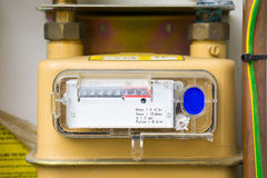 Gas meter installation Royalty Free Stock Images
