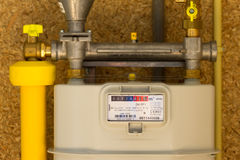 Gas meter Royalty Free Stock Image