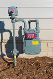 Gas meter Royalty Free Stock Photos