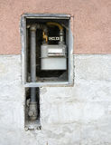 Gas meter on the wall Stock Photography