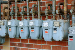 Gas meters Stock Photography