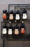 Gas meters Royalty Free Stock Photography
