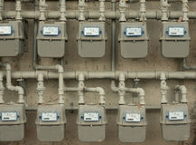 Gas meters Stock Image