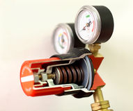 Gas mixing valve. Cut away view of Gas mixing valve Royalty Free Stock Photos
