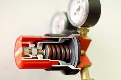 Gas mixing valve. Cut away view of Gas mixing valve Stock Photos