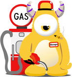 Gas Monster Royalty Free Stock Images